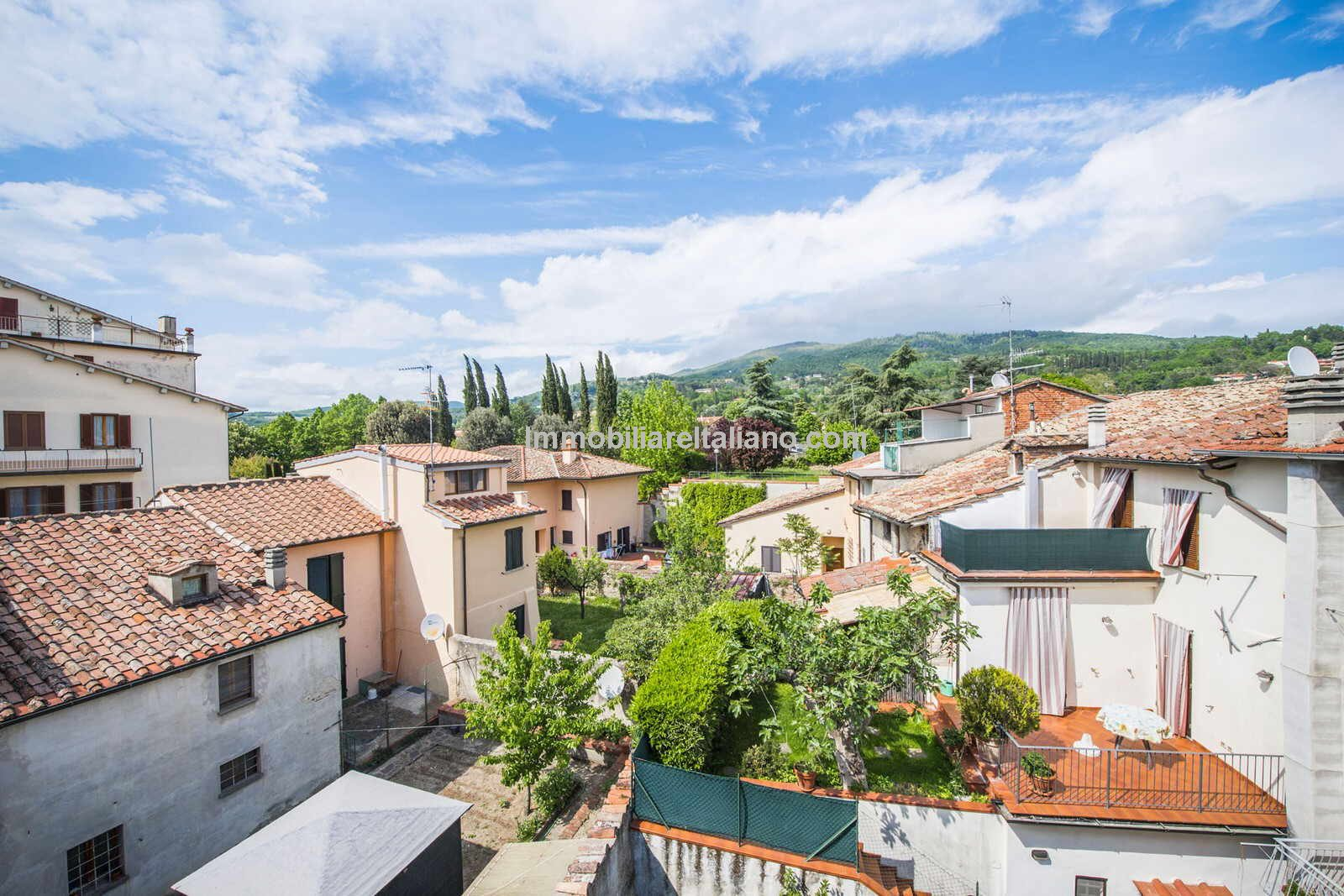 View over Sansepolcro from townhouse for sale