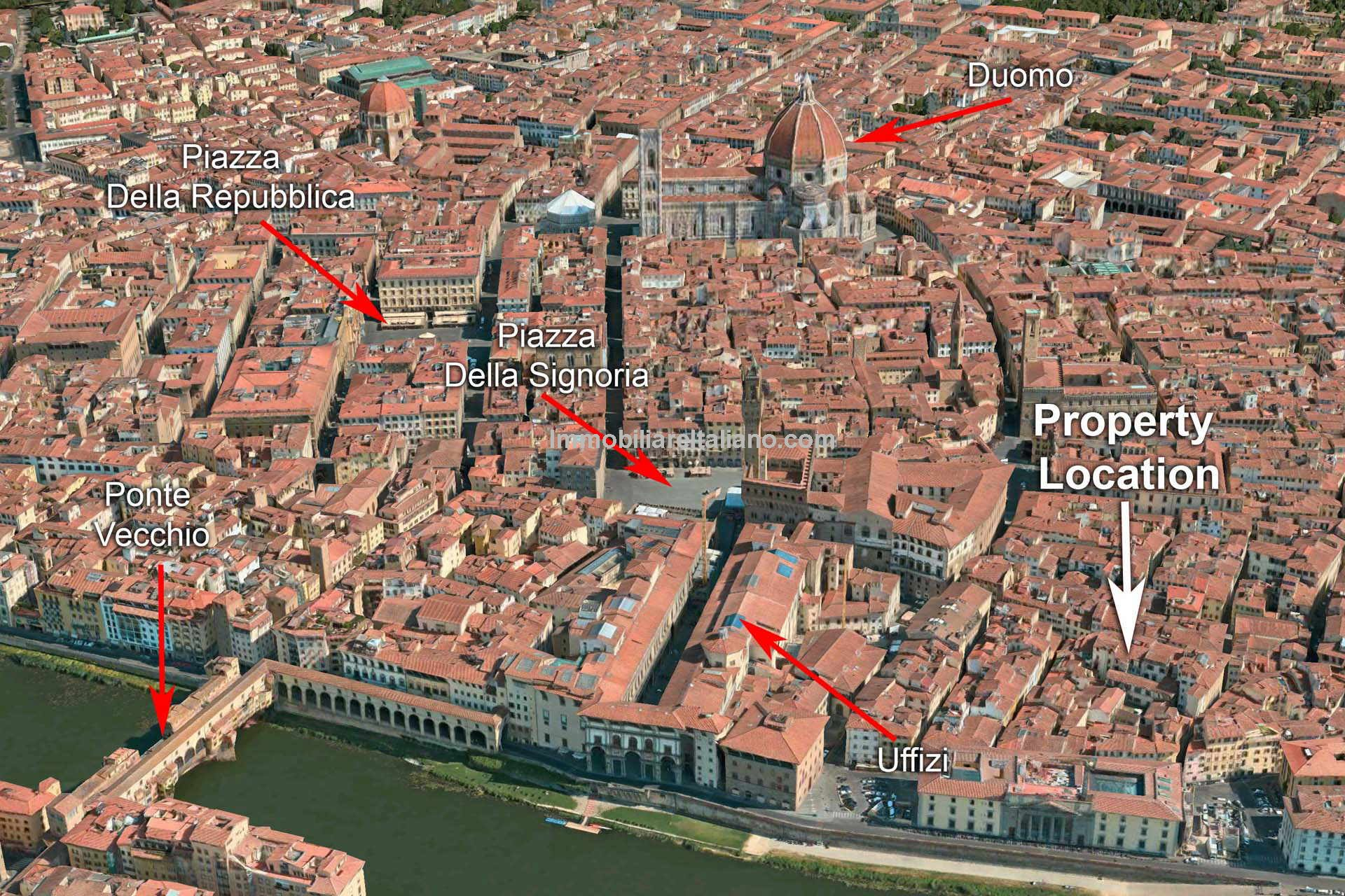 Aerial view of Florence apartment for sale