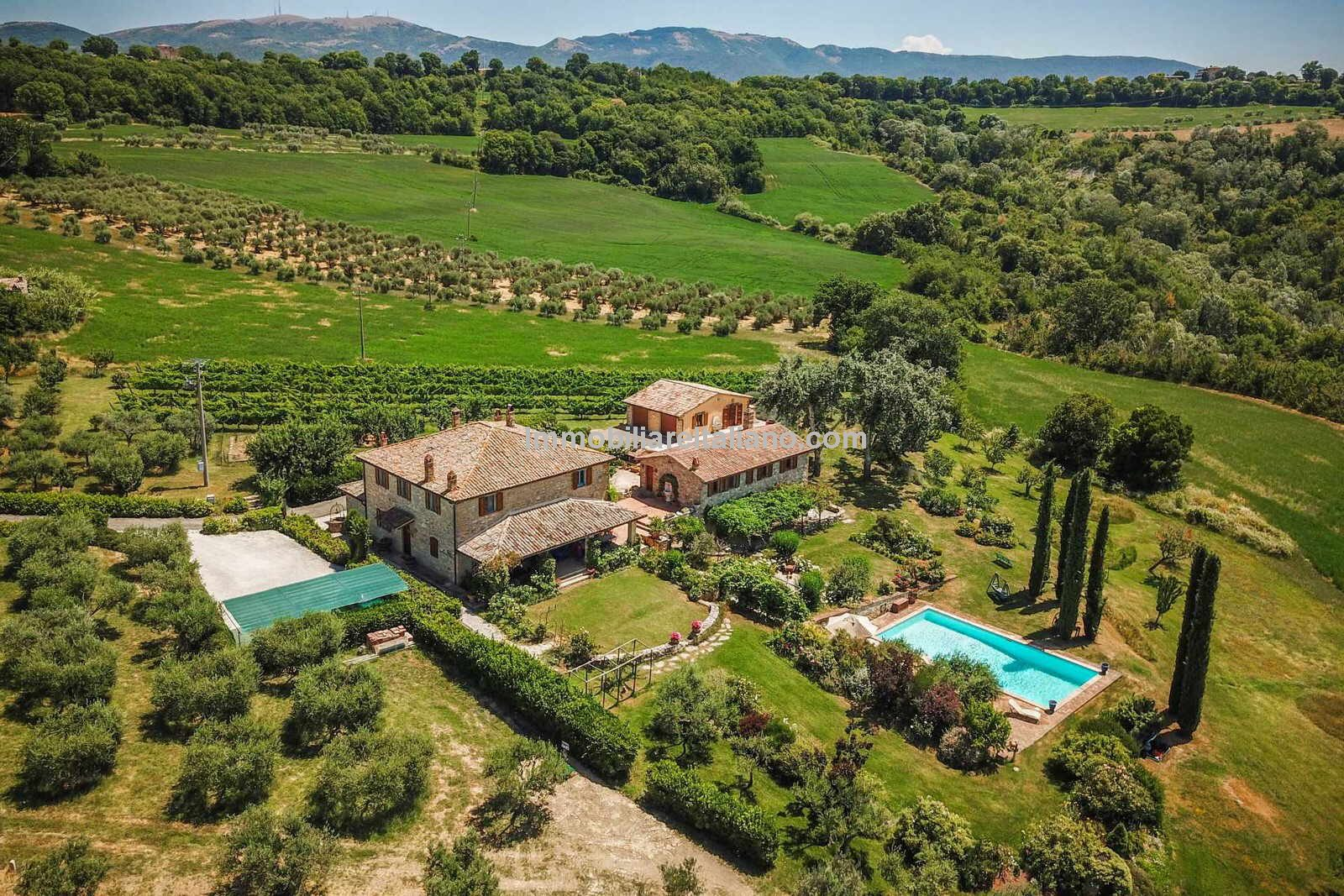 aerial view of umbria real estate