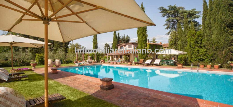 Restored farm estate property in the Valdarno - the valley of the River Arno in Tuscany - offering multiple income streams from tourism and farm with olive grove and small vineyard.