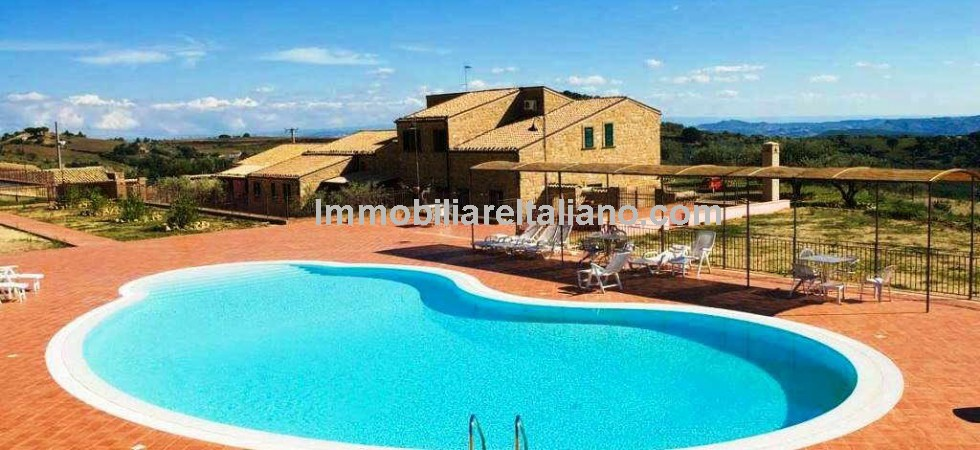 Sicily business for sale consisting of a agriturismo with 17 hectares of private land, olive trees, gardens and swimming pool near to the historical city of Piazza Armerina. This Sicilian property would also be ideal for use as a prestige private luxury home and estate.