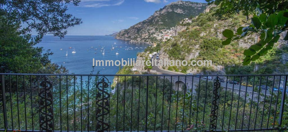 Luxury villa for sale, overlooking Positano on Italys famous Amalfi coast. The main part of this 8 bedroom luxury villa property is currently used as a private residence by the owners, while the separate adjacent unit, is currently used for a small luxury holiday rental business.