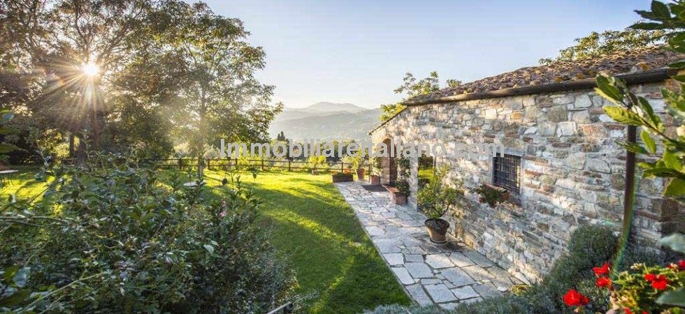 Near to Florence in Tuscany, small organic farm,agriturismo/B&B for sale. Small family run farm with farm shop and tasting room, 3 hectares of land, with 500/600 olive trees, orchard (cherry, apricot, fig, pear, plum, walnut and sorbi) and field of saffron.