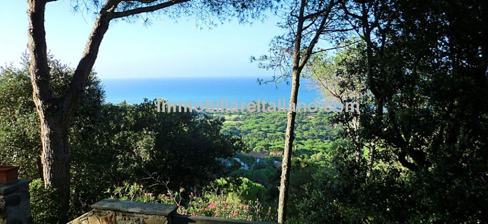 Castiglione della Pescaia in Tuscany is the location for this stunning sea view villa which has 5 bedrooms, swimming pool. mature gardens and stunning sea views.