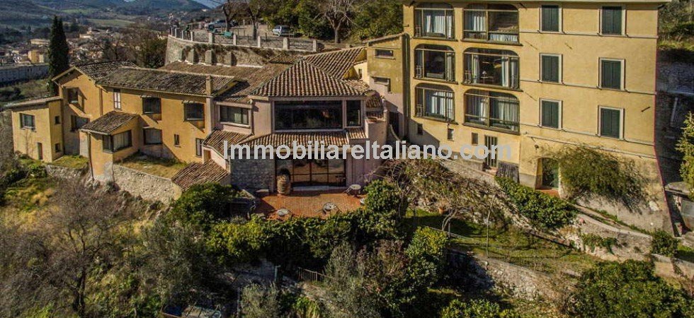 In Umbria, Spoleto property, currently a working hotel but would be suitable for conversion into a luxury home with ample guest and staff accommodation.