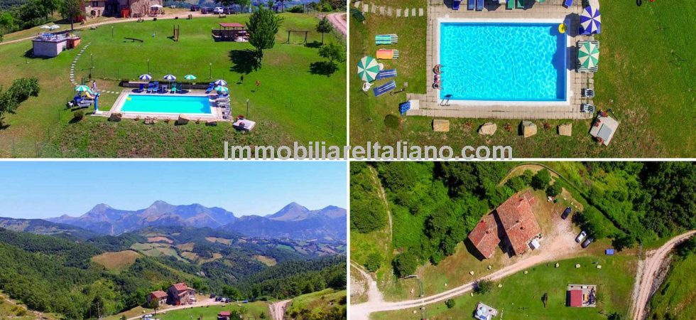 A Unique 5 apartment detached property currently run as an agriturismo occupying an idyllic location in the Umbrian countryside near to Gubbio.