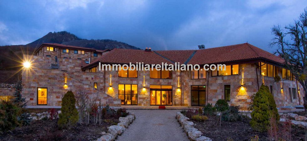 Hospitality business for sale Italy. Located in the Abruzzo region this modern 4-star- superior hotel with wellness centre, inside and outside pool and restaurant. Ideal location for skiers and outdoor sports.