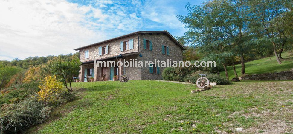 Typical Tuscan Country house with land. Private property full of rustic charm recently rebuilt from the ground up to modern standards retaining typical Tuscan features.