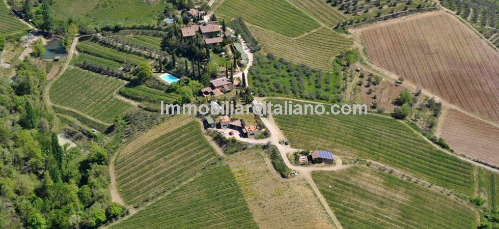 Chianti real estate offering a unique investment in one of the most sought areas of Tuscany and Italy in general. Chianti Hills near Siena, a restored hamlet and estate making wine, olive oil and offering quality holiday accommodation