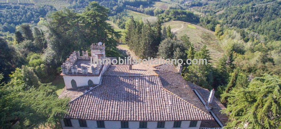 Prestige Tuscan property comprising Chianti historical vineyard estate, 16th-century villa and several residential and agricultural buildings with winery, Agriturismo, consecrated chapel, gardens, 2 swimming pools, hunting reserve and Chianti DOCG vineyards.