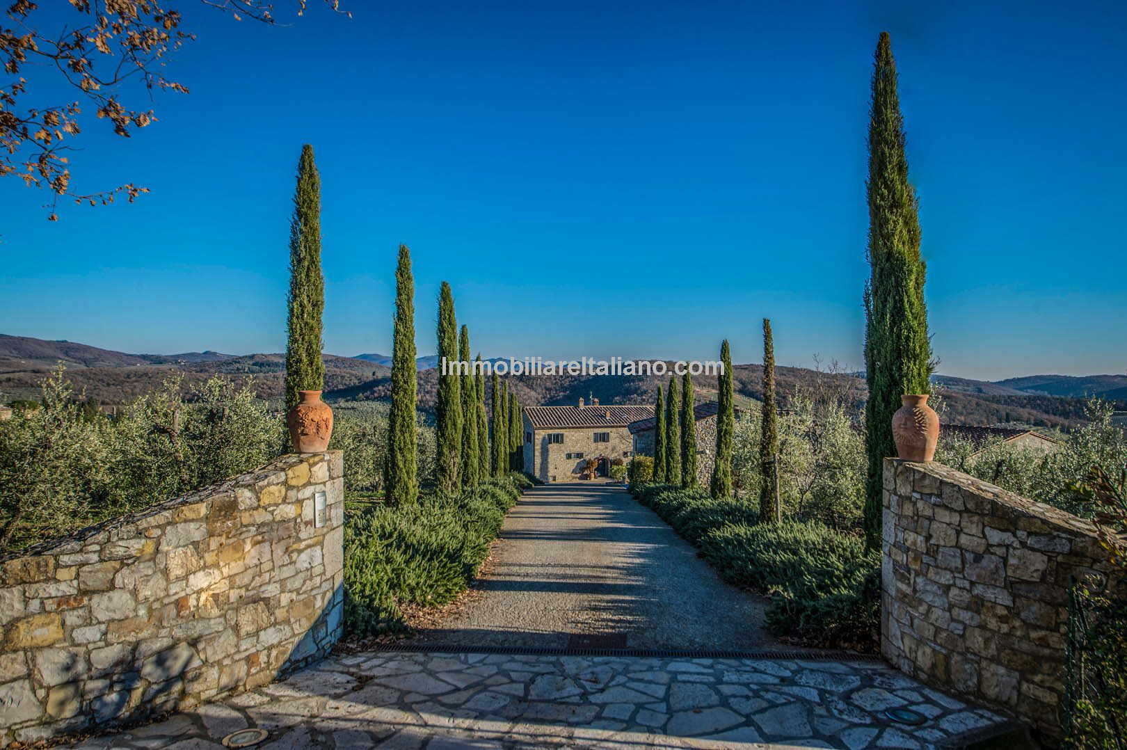 Tuscan vineyard property
