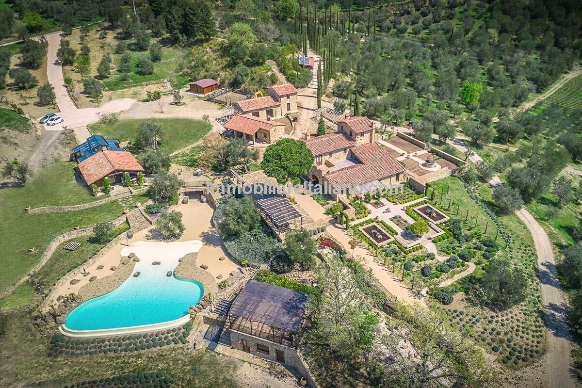 Organic Olive oil farm estate with villa, infinity pool, vineyards, olive grove and cellar