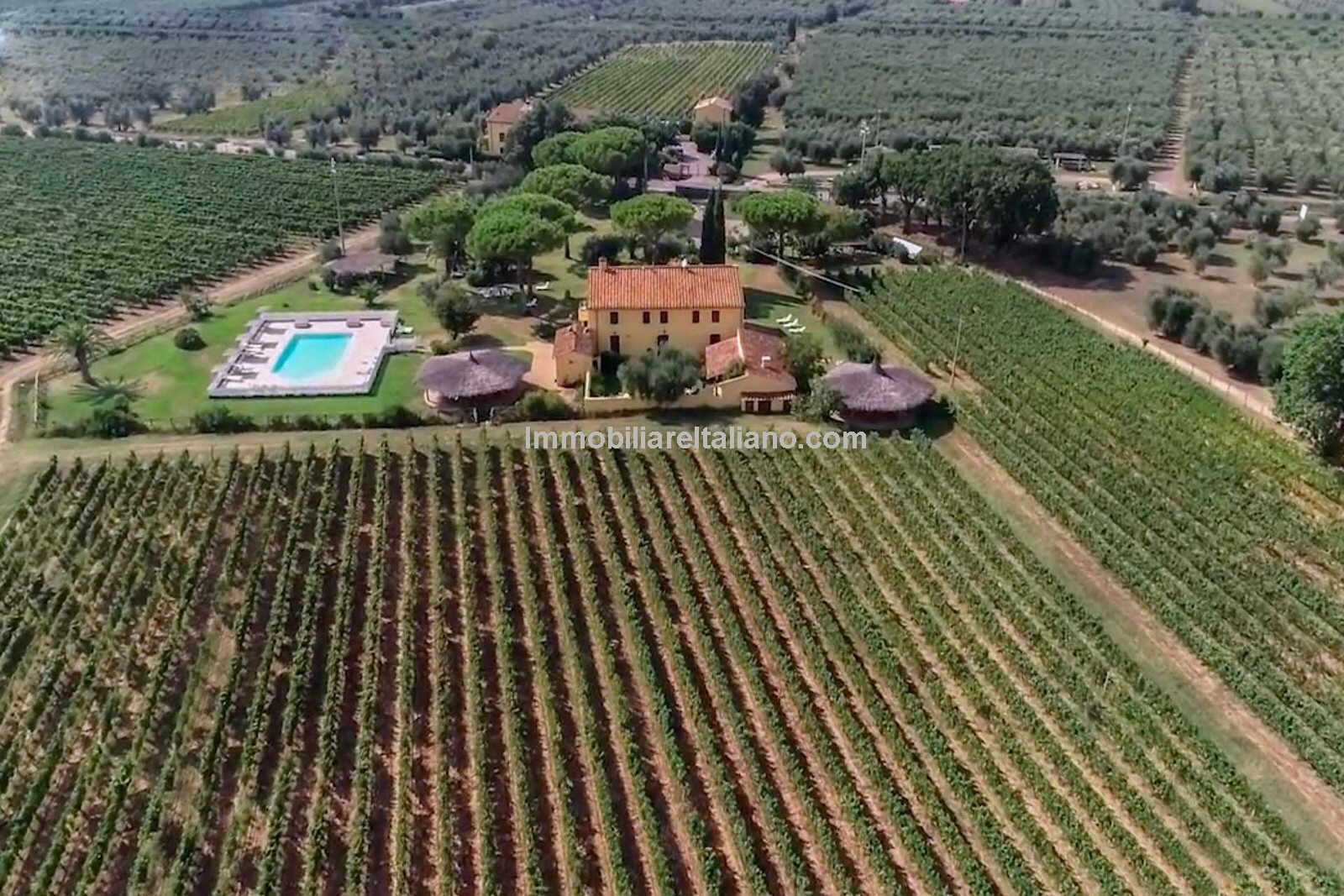 Tuscan commercial property, vineyard and agriturismo