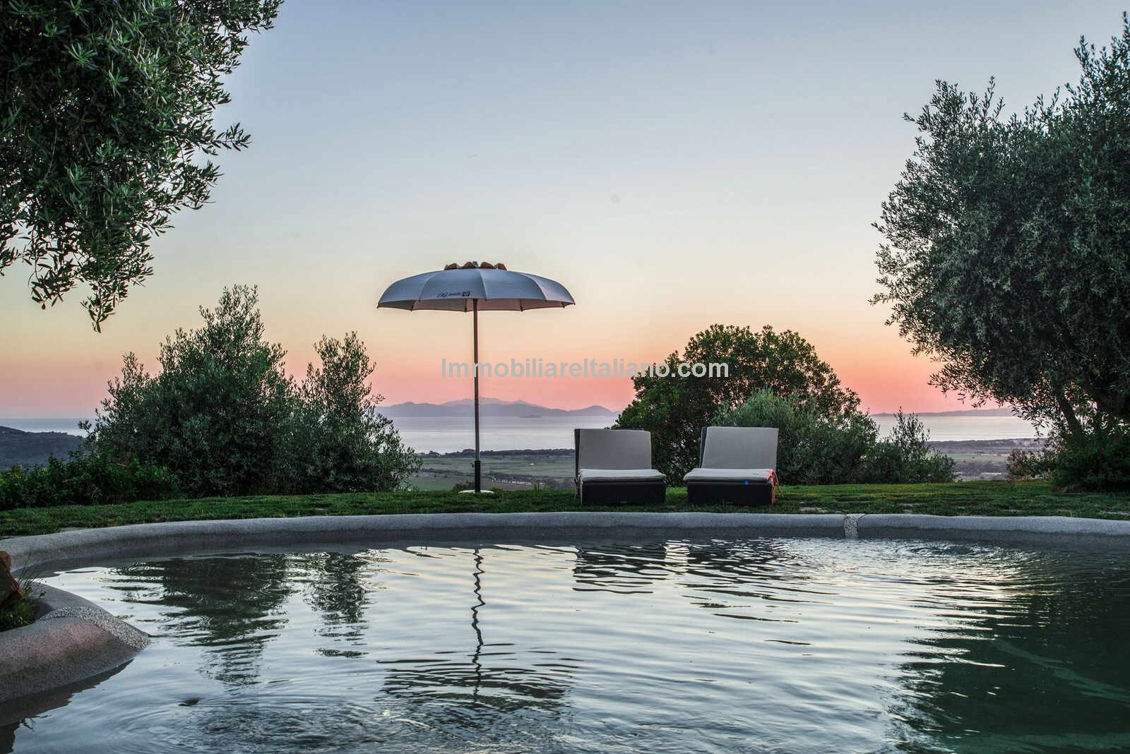 Sea view from this Luxury property in Tuscany