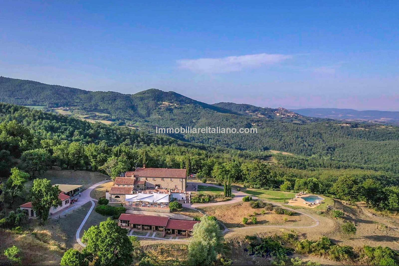 Agriturismo property in Tuscany - aerial view