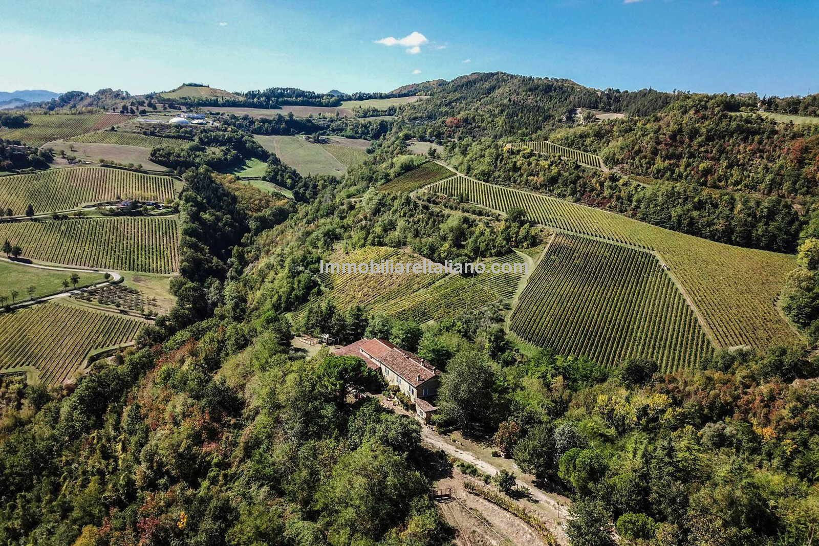 Romagna DOC Winery for sale- aerial view