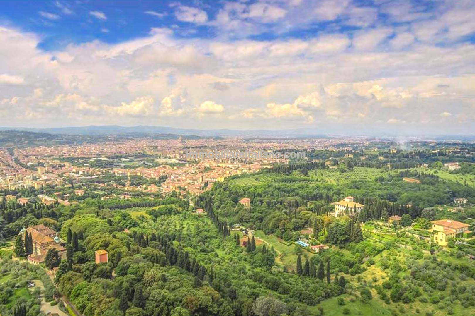 View of Florence from the terrace of this Luxury property for sale