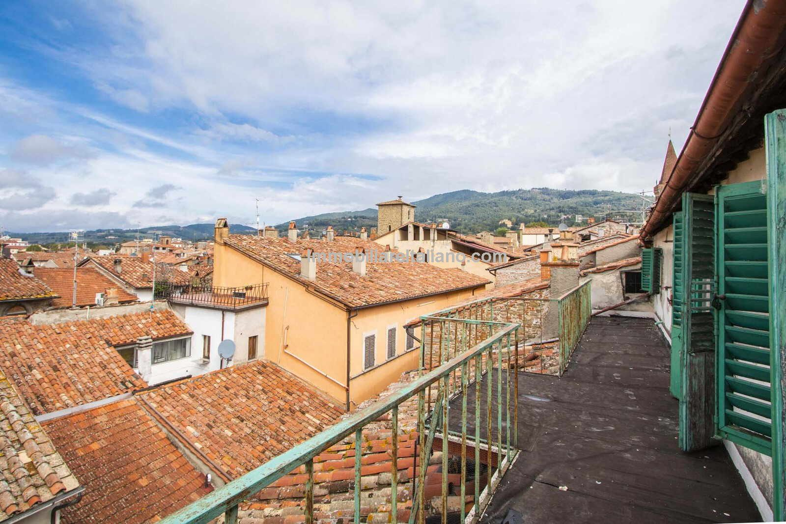 View from apartment over Sansepolcro rooftops