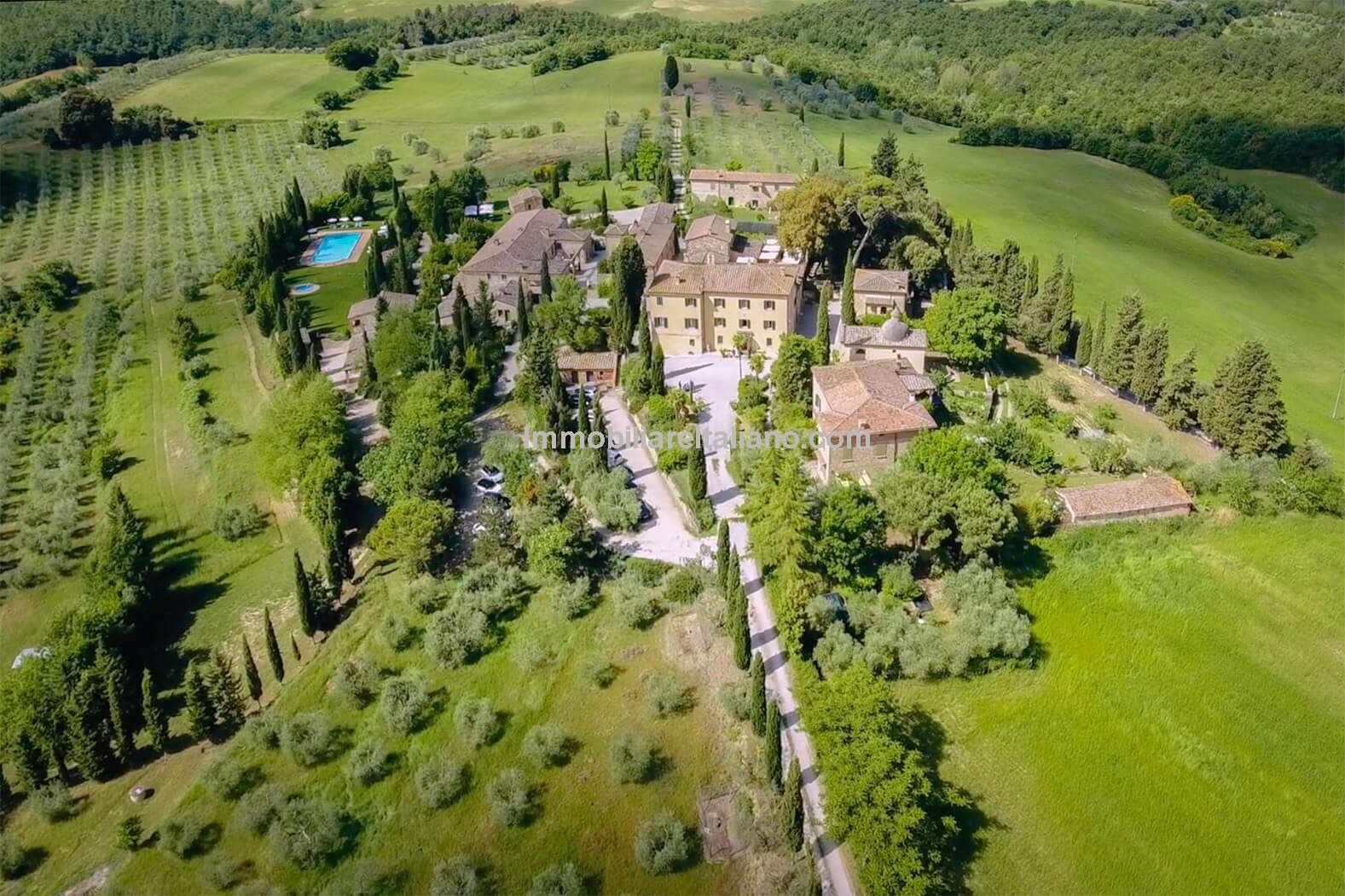 Aerial view of Italy business for sale