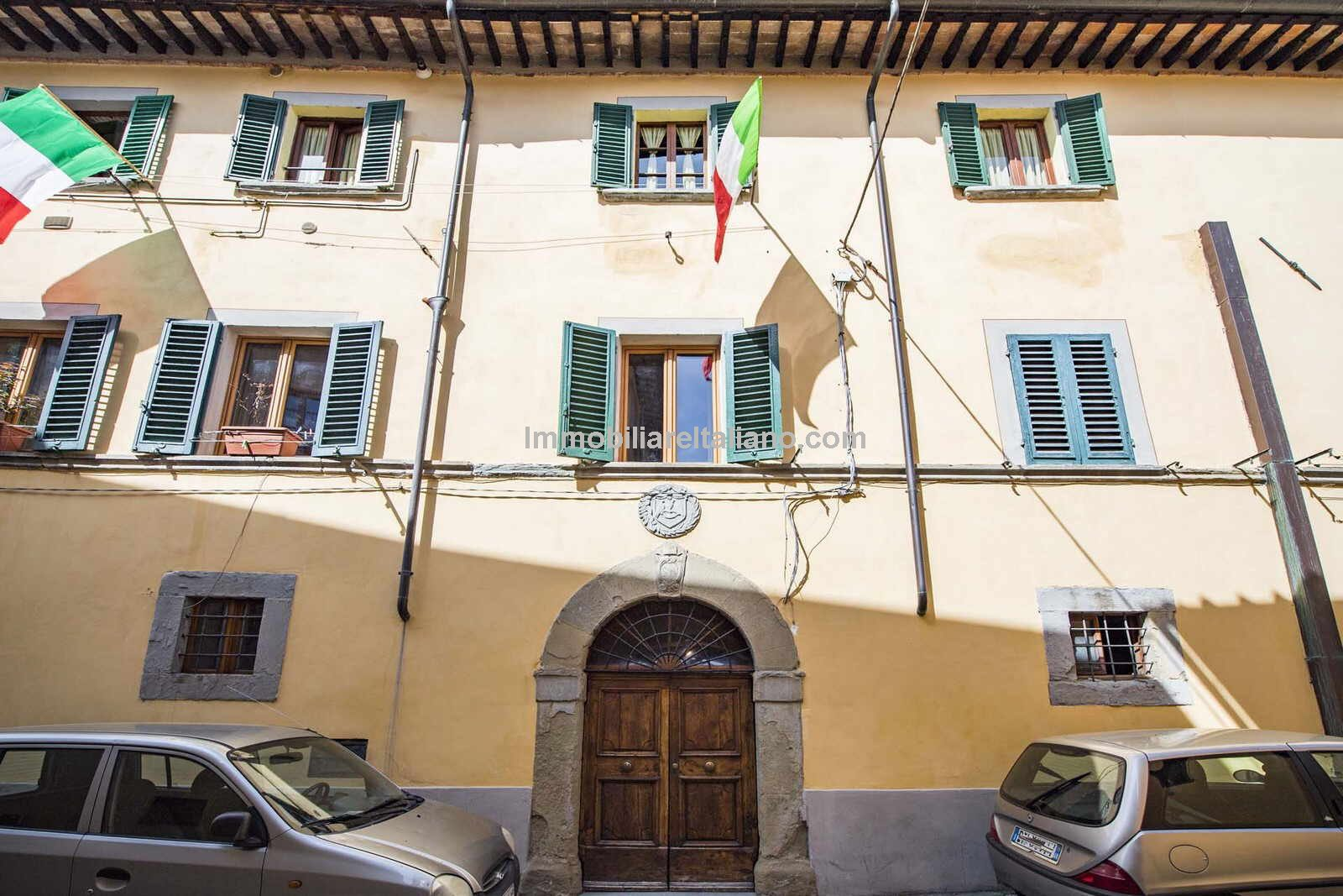 Street view of Sansepolcro Tuscany Italy Apartment
