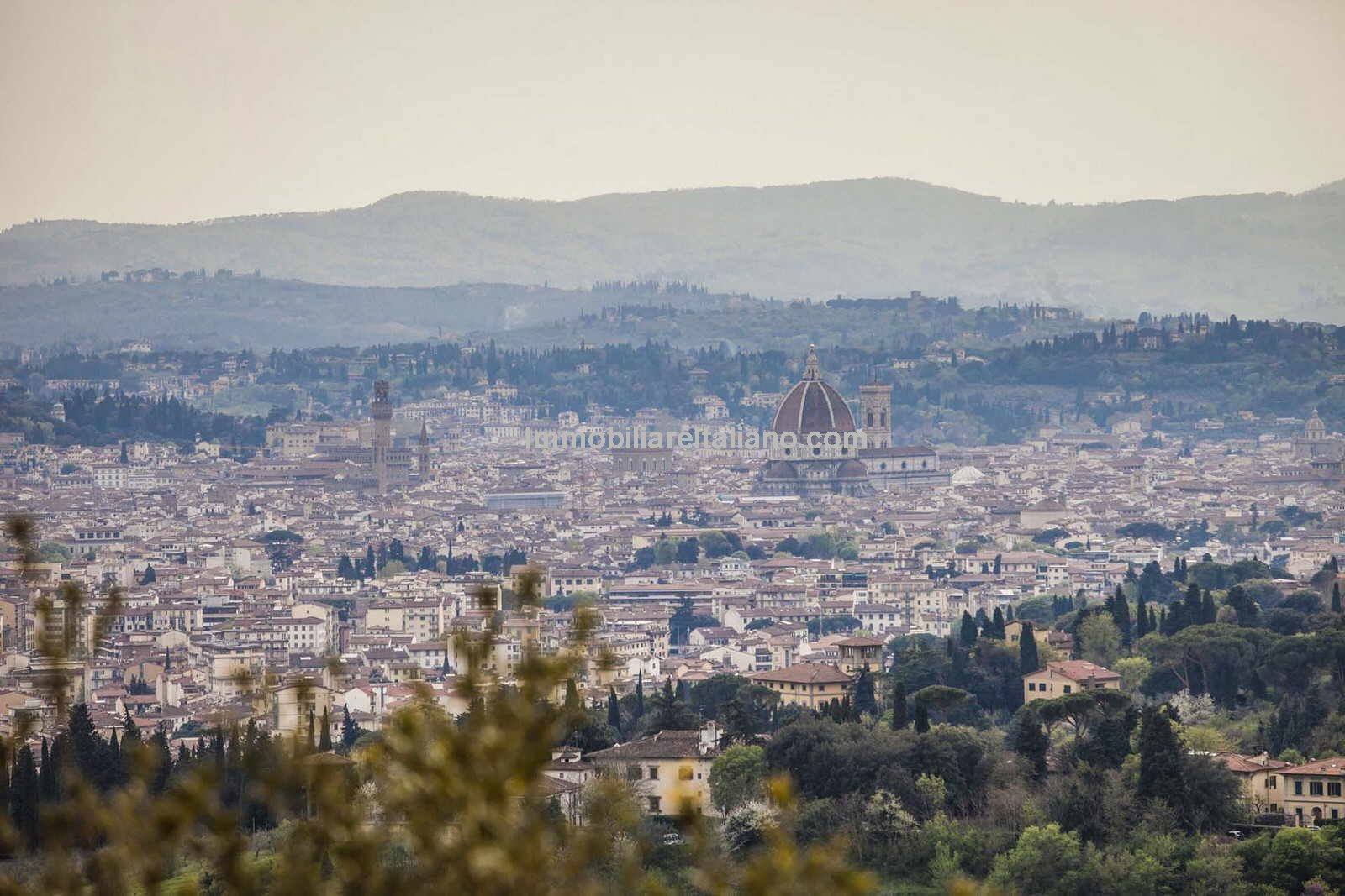 View of Florence from Tuscany villas for sale