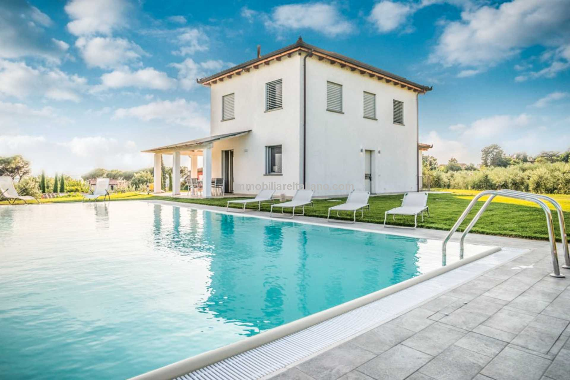 Recently built villa with pool.
