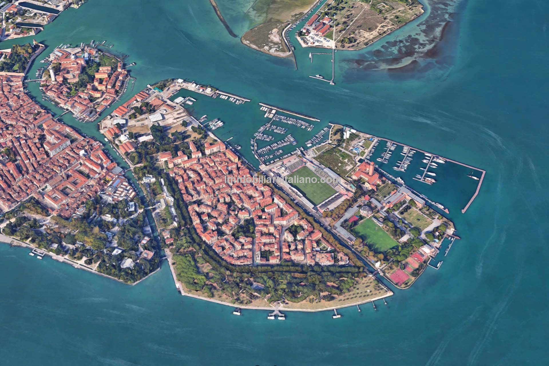 Aerial of of Venice Italy property