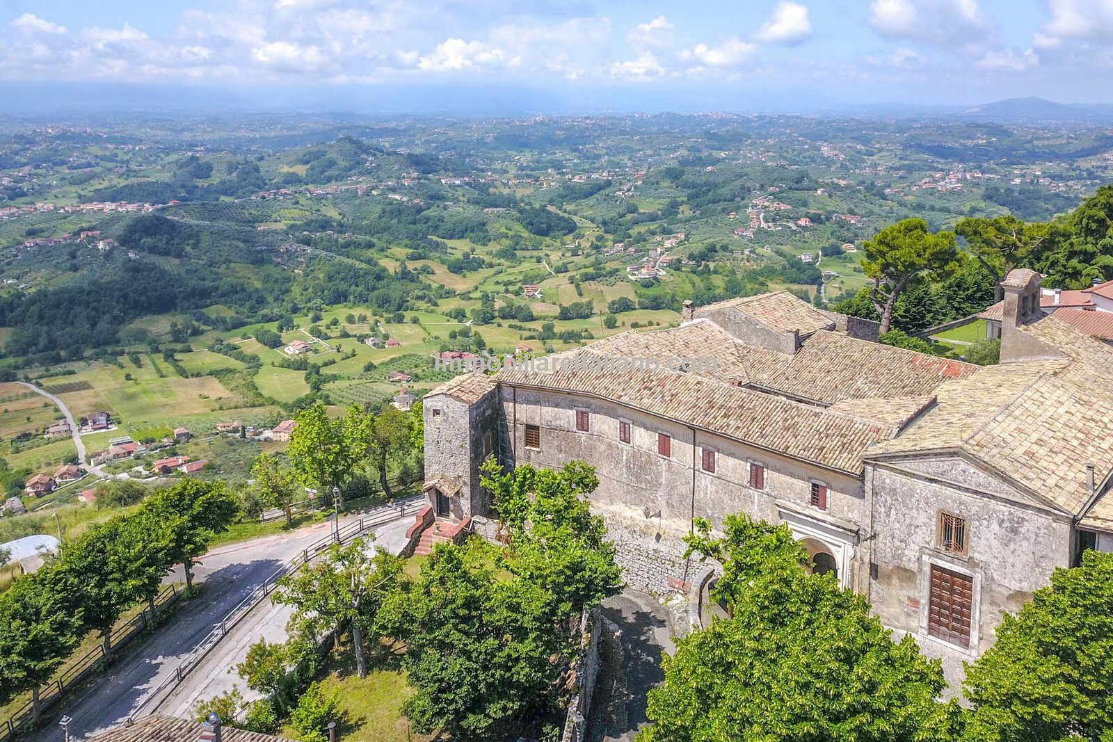 Aerial view of Monastery for sale in Italy