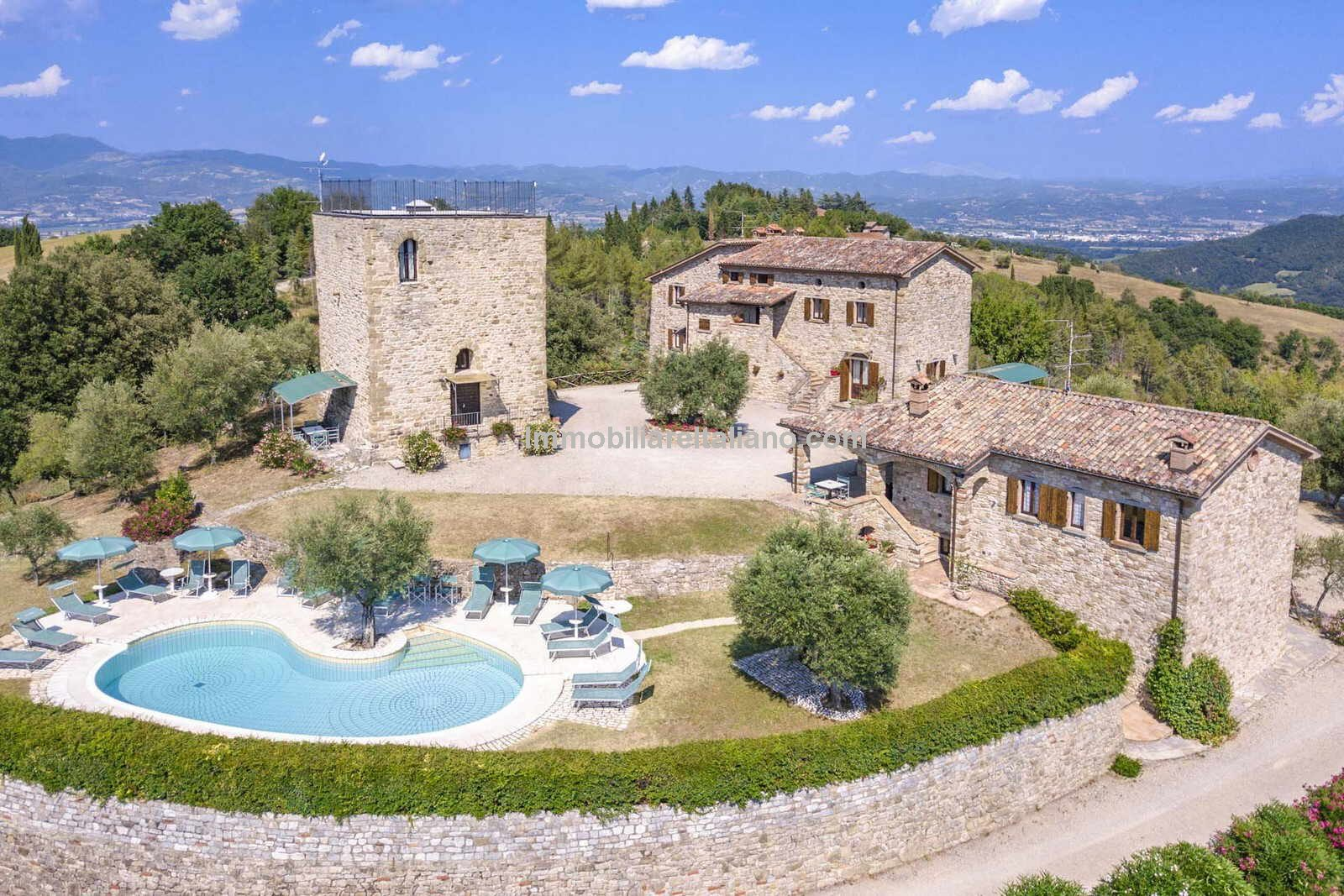 Aerial view of Tower Estate for sale in Italy