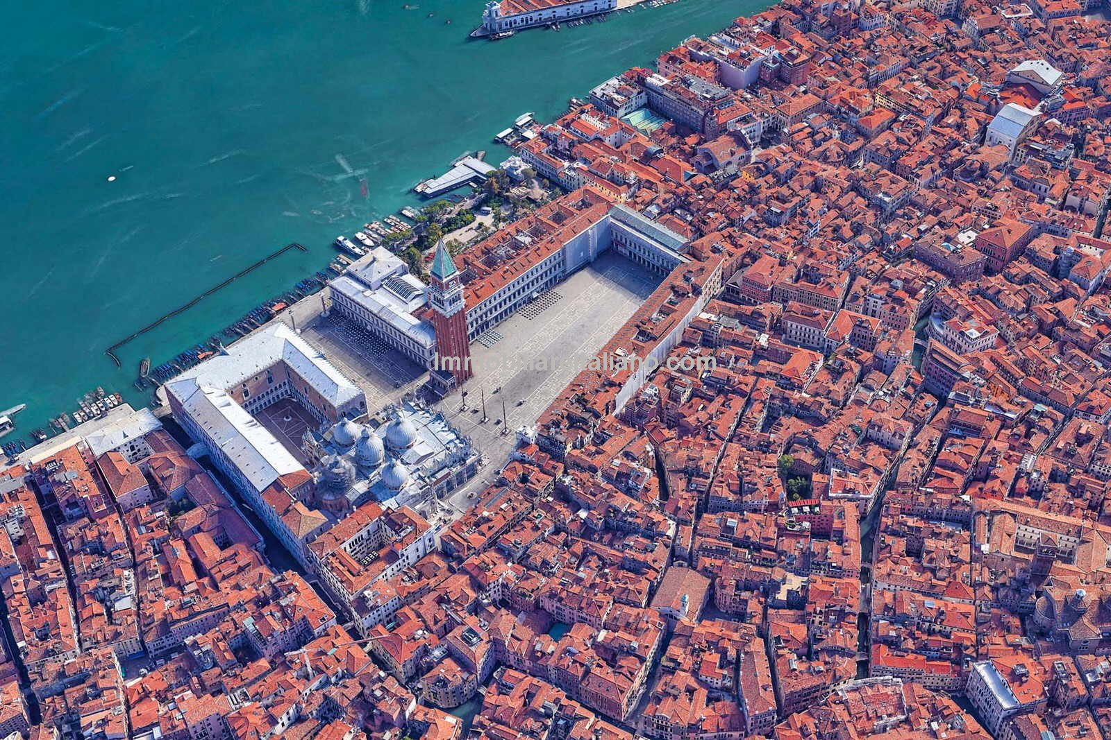 Aerial view of Venice Italy home for sale