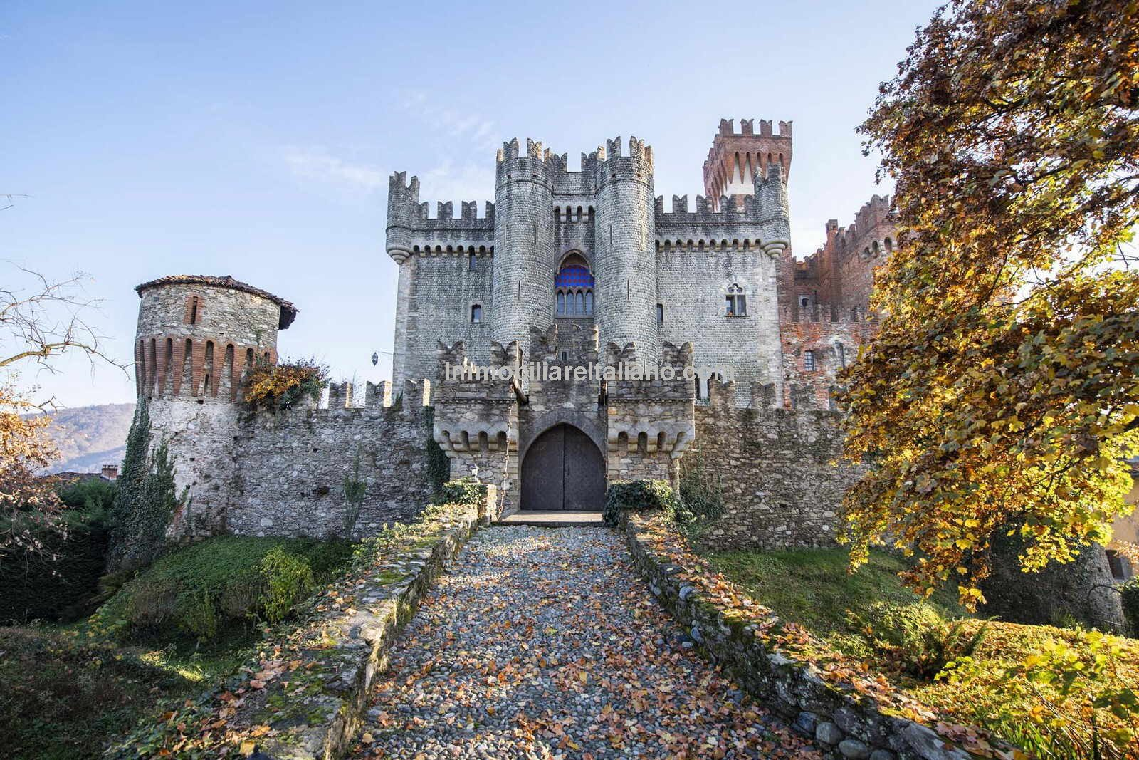 View of drawbridge entrance to Castle of Italy for sale