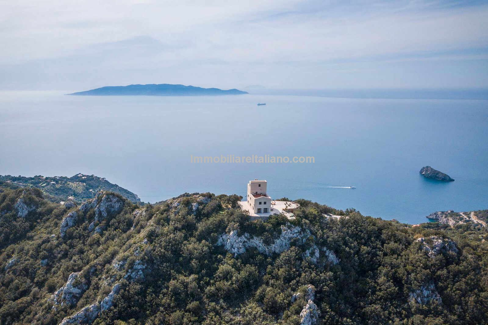 Live in a Lighthouse in Tuscany Italy and enjoy these sea views